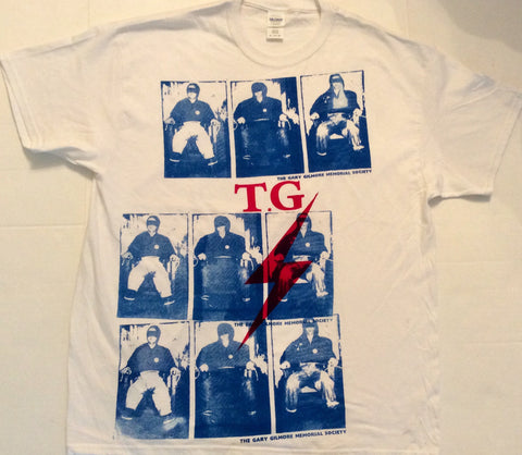 Throbbing Gristle - Gary Gilmore Electric Chair multi prints TG T-shirt  Unisex