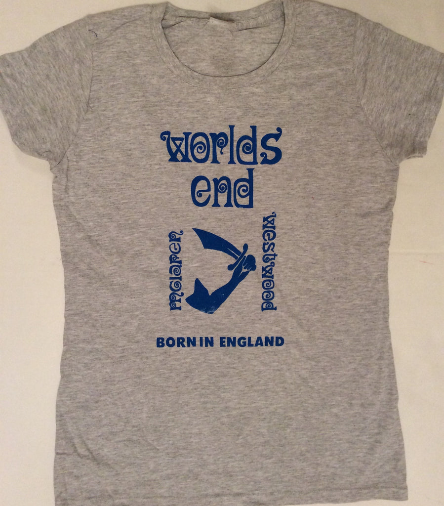 Worlds End Punk T-shirt Westwood McLaren Born in England Grey Tee