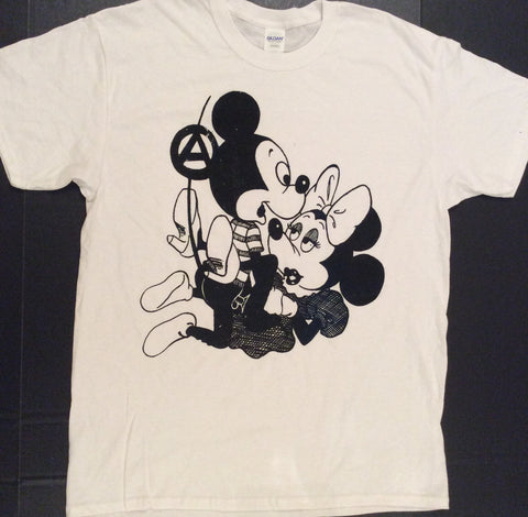 Mickey Mouse Sex T-shirt- Punk Cartoon Tee - Black Print