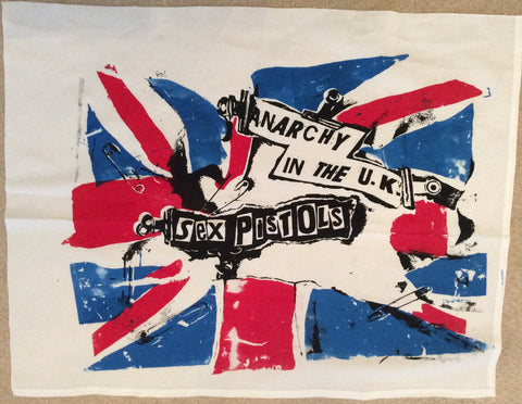 Sex Pistols - Anarchy in the UK - vintage FLAG - Punk Wall Hanging