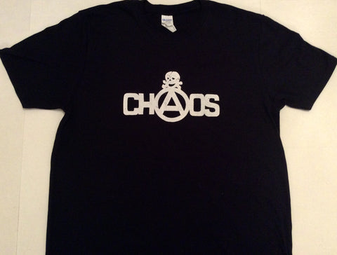 Chaos Anarchy Skull Punk T-Shirt - Black Large 40""