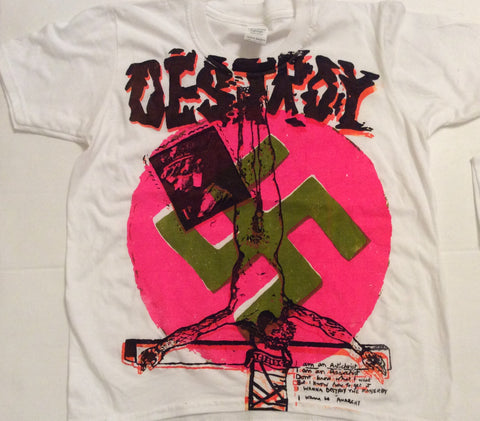 Seditionaries DESTROY T Shirt Sex Pistols Anarchy Punk - mixed colours XSm 34""