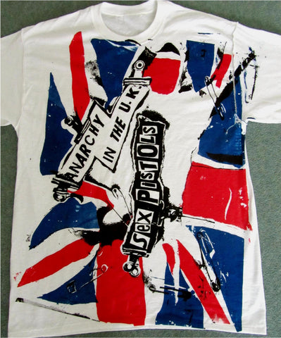 Anarchy In The UK T-Shirt - Sex Pistols Punk Union Jack Flag Unisex Tee