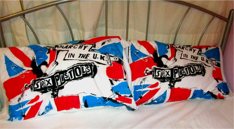 Punk Flag PILLOWCASES Pistols Anarchy in the UK Set of 2