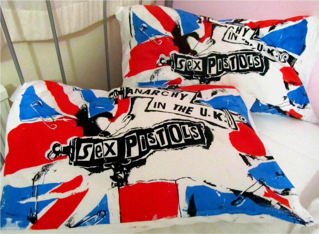 Sex Pistols Anarchy in the UK Union Jack Pillowcase