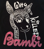 Who Killed BAMBI - Sex Pistols Punk T-shirt Sm 36""