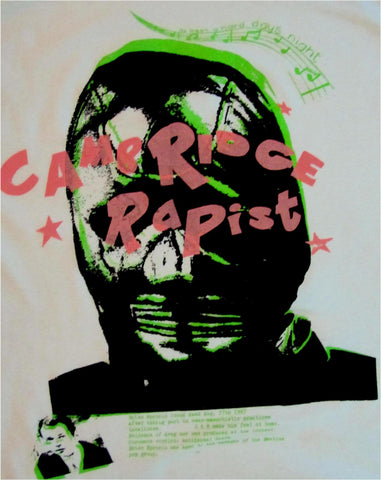 Seditionaries Cambridge Rapist -Gimp Mask- Epstein -  Punk T-shirt M38""
