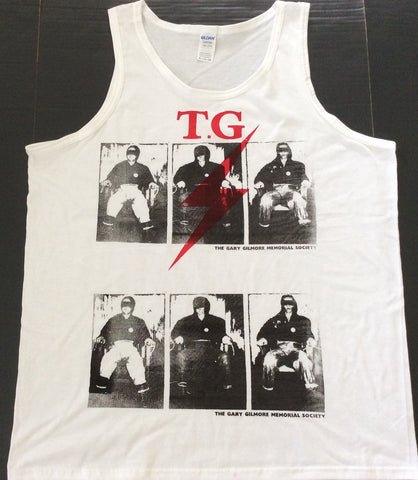 Punk VEST Throbbing Gristle Gary Gilmore Electric Chair XL unisex