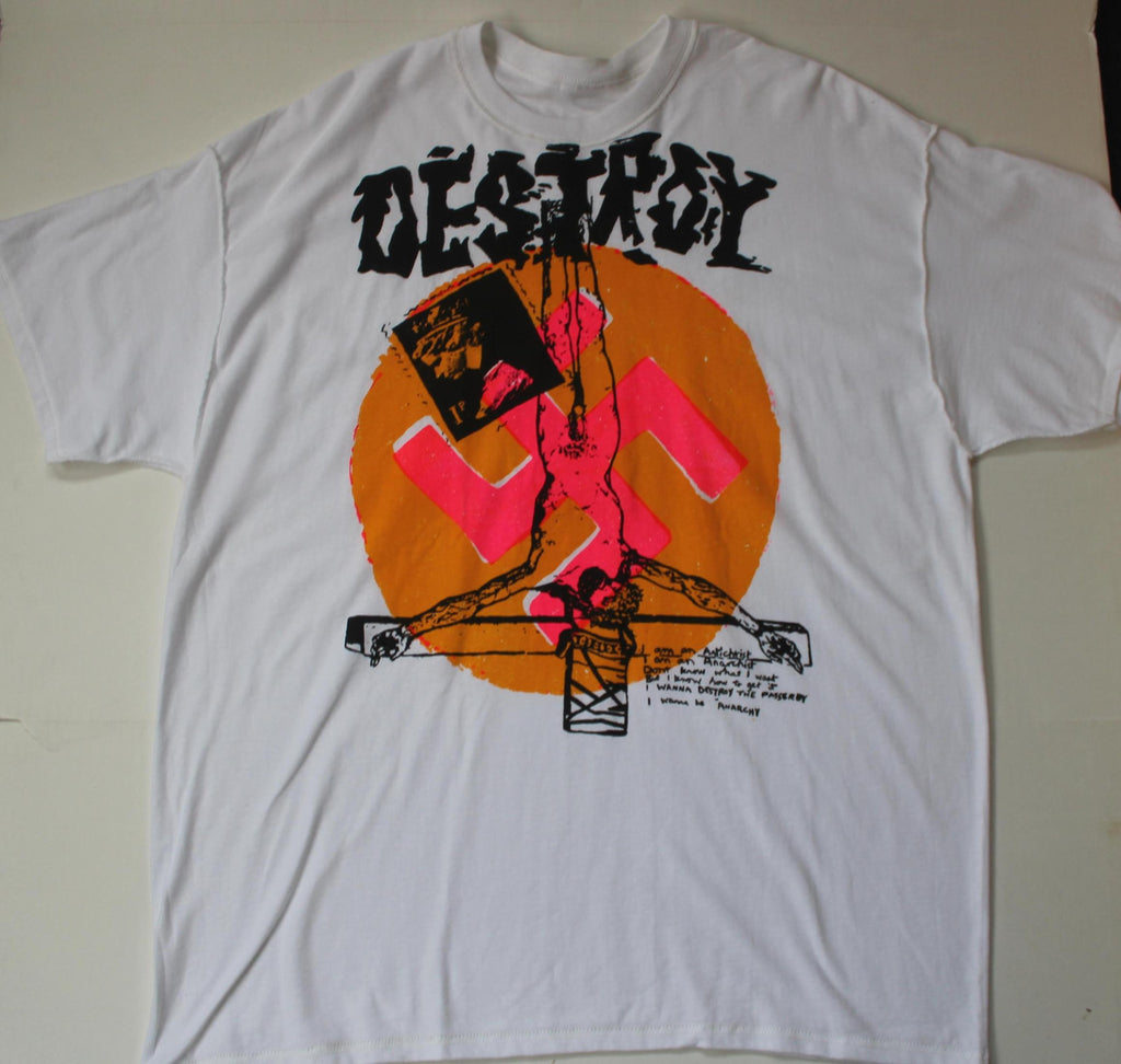 Seditionaries DESTROY Anarchy Punk T Shirt -Large 40""