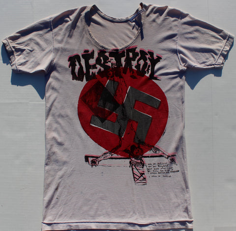 "Seditionaries DESTROY T Shirt -Inside Out Vintage 36""-38"""