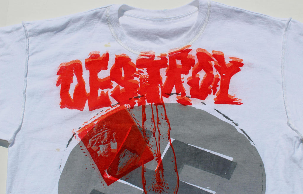 DESTROY Anarchy Punk Seditionaries T Shirt Medium 38""