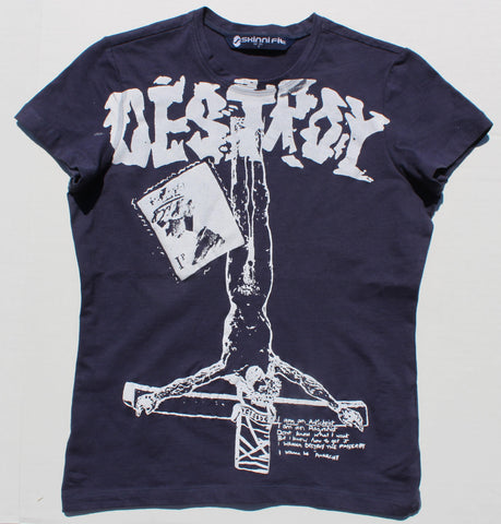 Seditionaries DESTROY T Shirt Sex Pistols Punk Skinny fit XSm 34""