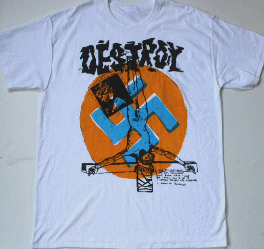 Seditionaries DESTROY T Shirt Anarchy Inside Out Large 40""
