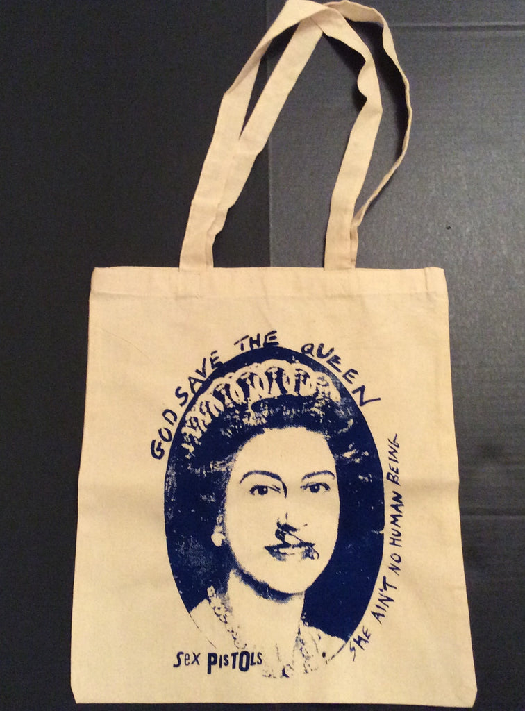 Sex Pistols QUEEN Canvas Shopper Bag Punk Tote