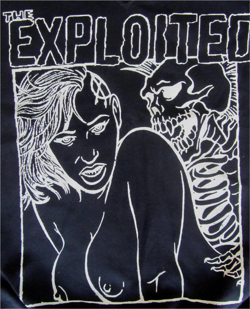 The Exploited Skeleton SEx Black T shirt Unisex 3XL 46""
