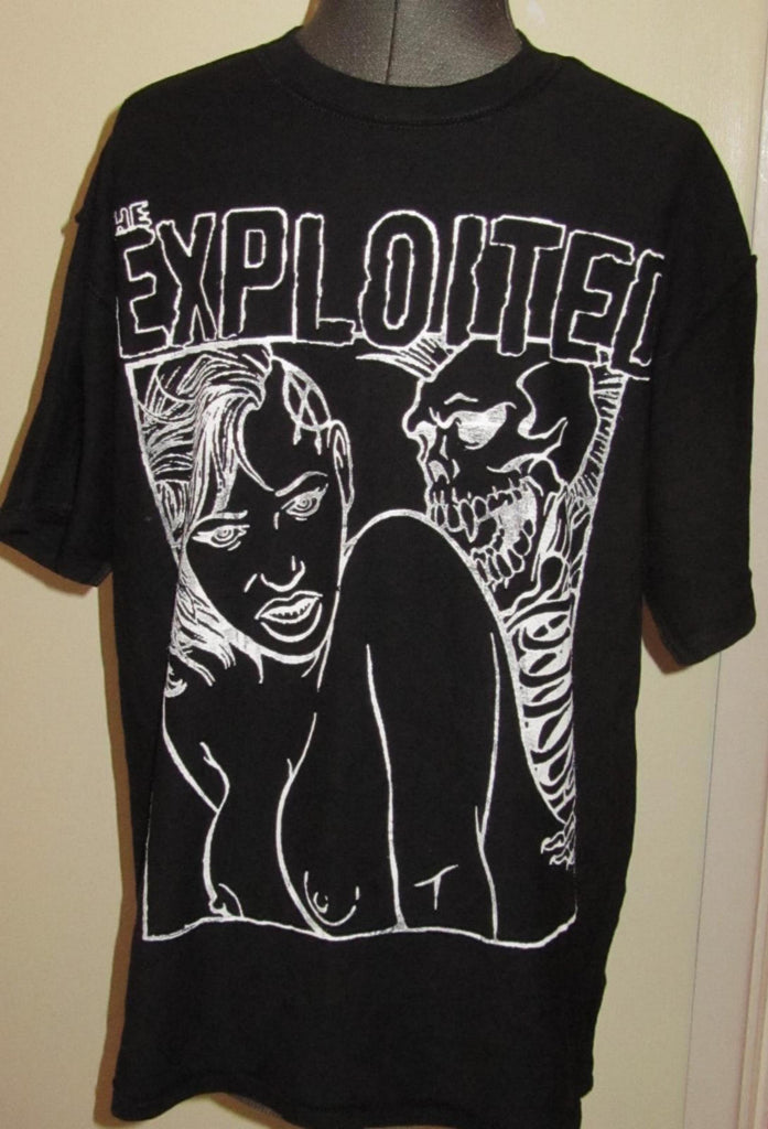 The Exploited Skeleton Sex -Black T shirt- Large - XL- unisex