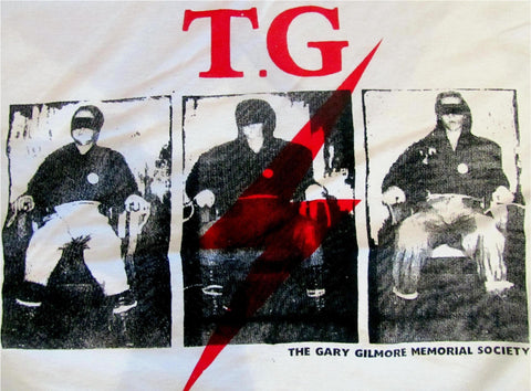 Throbbing Gristle Gary Gilmore Electric Chair T-shirt Large 40""