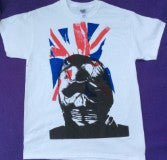 Seditionaries Cambridge Rapist Gimp Mask Flag T-shirt S-M