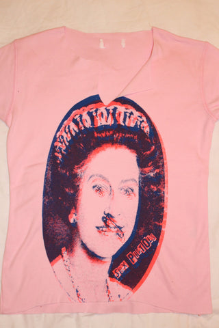 Evil Queen Sex Pistols vintage punk t-shirt - Pink