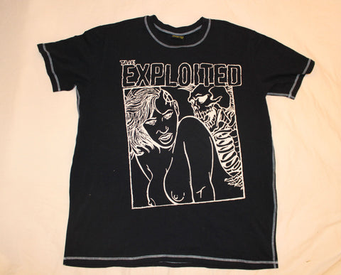 The Exploited T-Shirt -Skeleton Sex - Navy T-shirt -Unisex 2XL