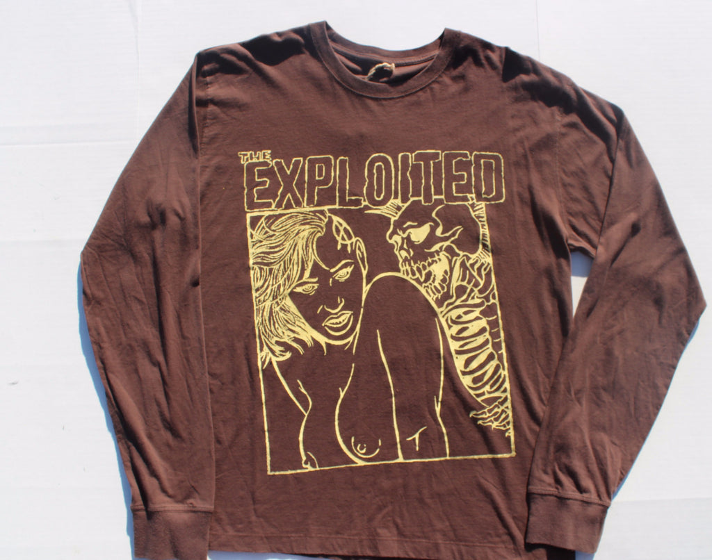 "The Exploited Punk Long-sleeve Top Brown XL 42""-44"""