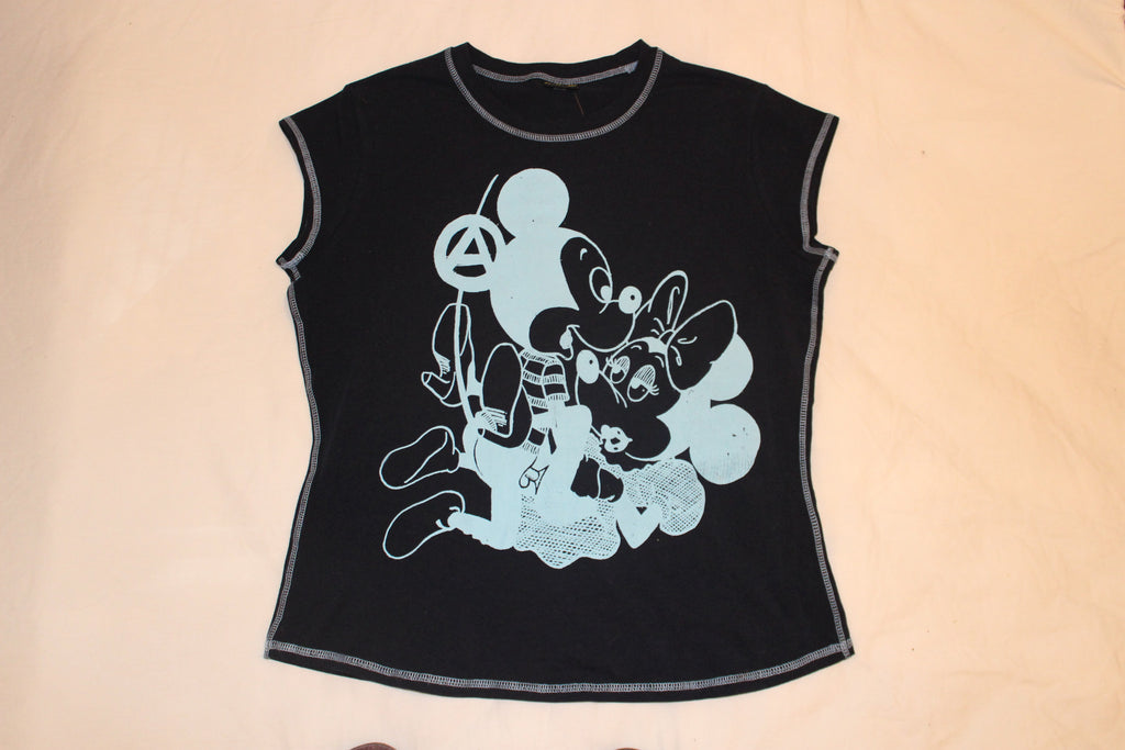 Mickey & Minnie Sex - Navy Contrast Seams T-shirt