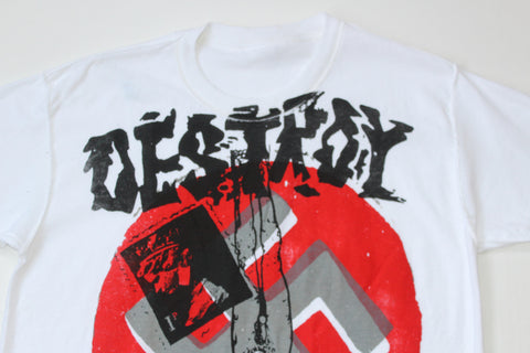Seditionaries DESTROY T Shirt in Red-  Sm 36""