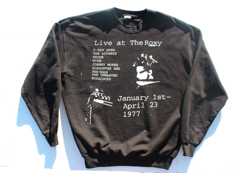 Live at The Roxy- Punk gig poster Black Sweater