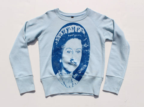 Sex Pistols Sweatshirt -God Save The Queen 'Evil Eyes' -Light Blue