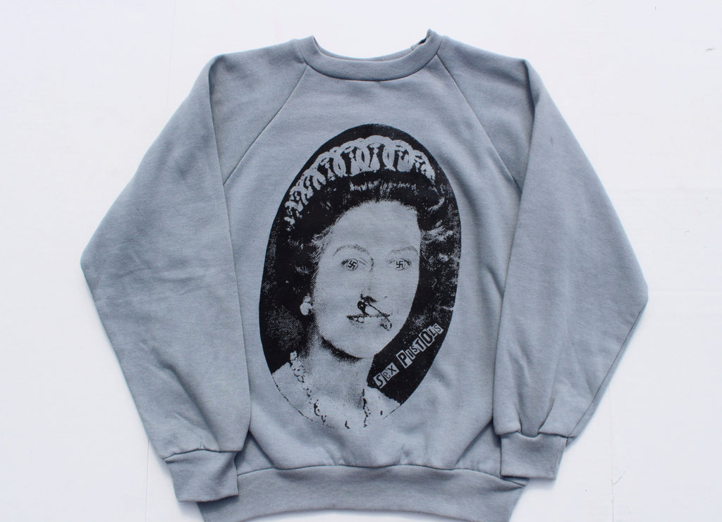 Sex Pistols Sweater -God Save The Queen 'Evil Eyes' -Grey
