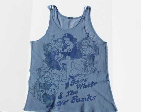 Snow White & Sic Punks Fishnet Vest -Blue -Large