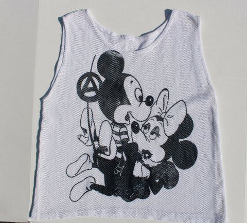 Mickey Minnie SEX Punk Fishnet Vest