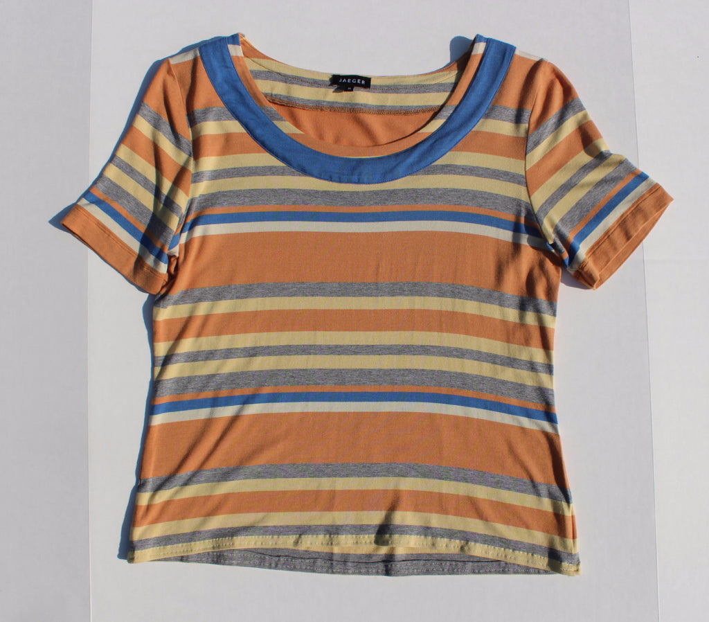 Orange Striped Jaeger T-shirt