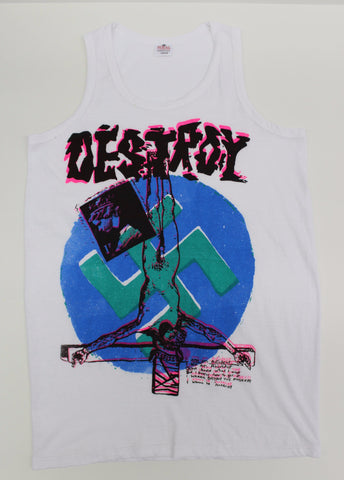 Seditionaries DESTROY - White Cotton Tank Top