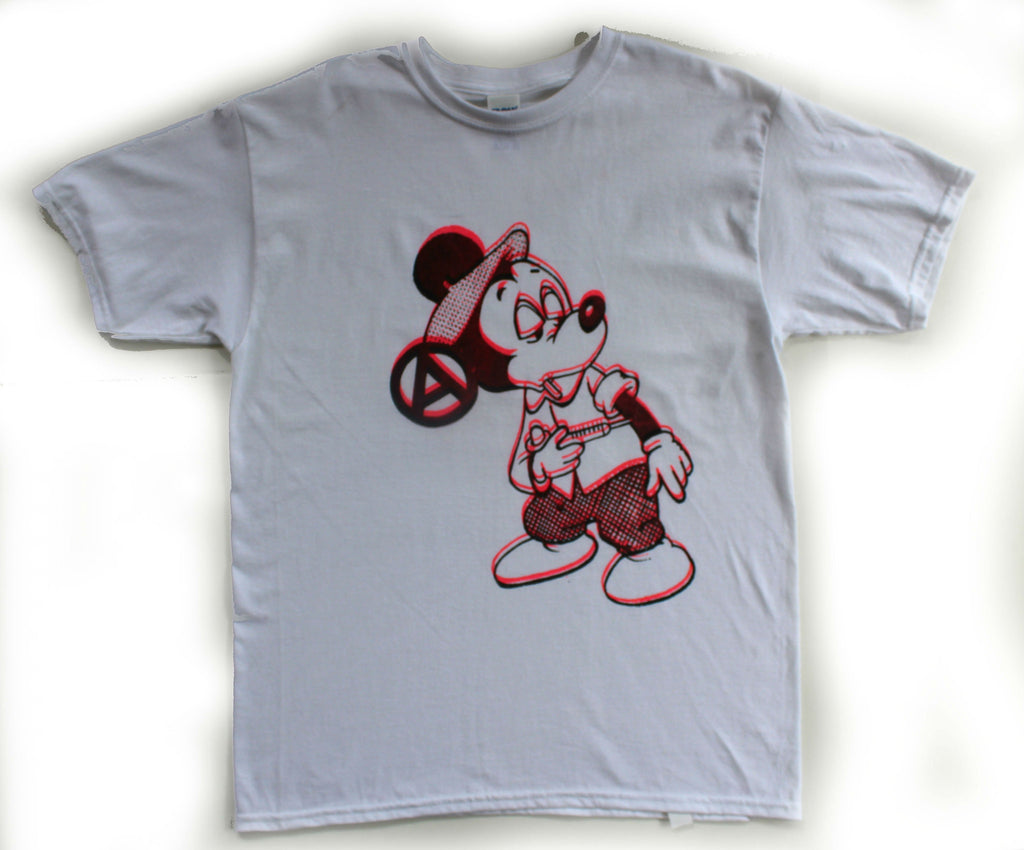 Mickey Drug Fix T-shirt - Anarchy Cartoon- Small 34-36""