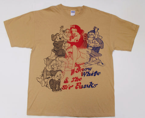 Snow White and the Sic Punks T-shirt -Mustard