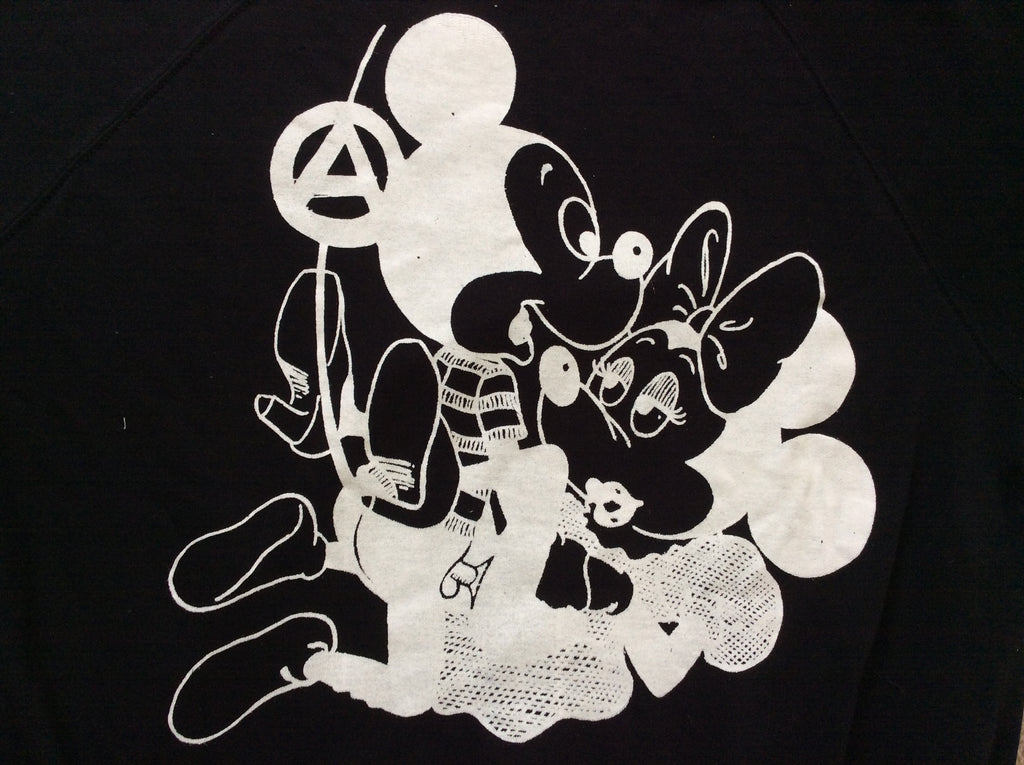 Mickey and Minnie SEX - Seditionaries Punk T-shirt -Black fitted Tee 32""