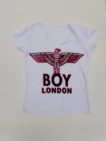 BOY London Print White Slit T-shirt
