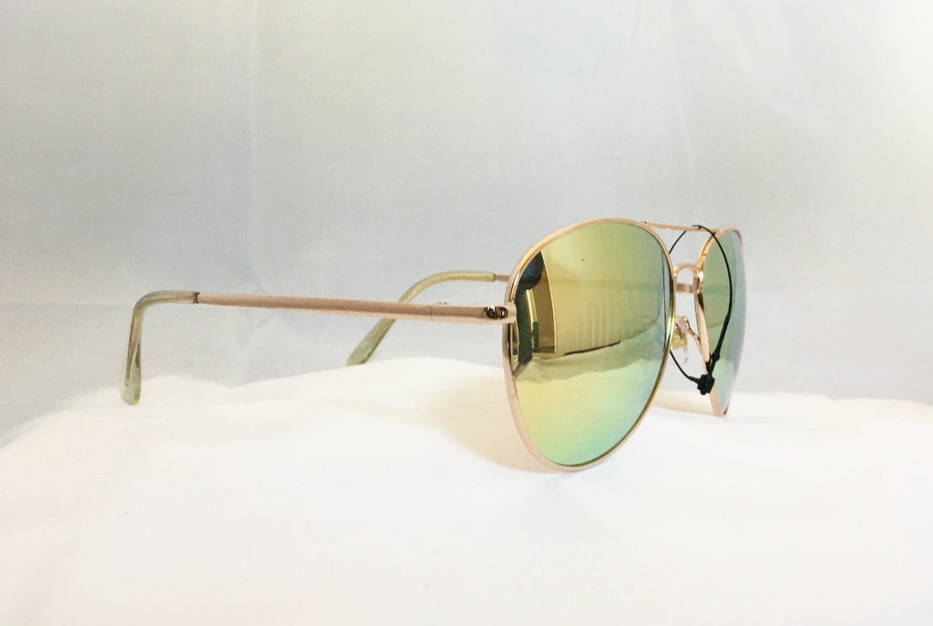 Aviator Sunglasses - Gold / Mirror