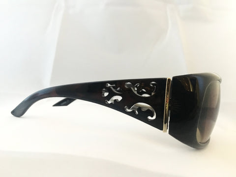 Vintage-Style Sunglasses - Rectangular Cutout