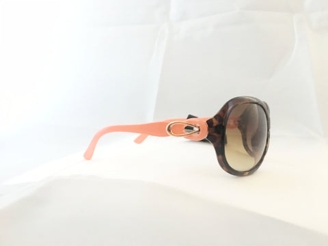 Large Oval Sunglasses - Tortoiseshell / Pink