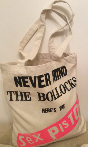 Sex Pistols Never Mind the Bollocks Canvas Shopper Bag Punk Tote