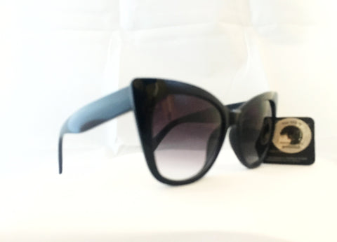 Cat Eye Sunglasses -Chunky Black