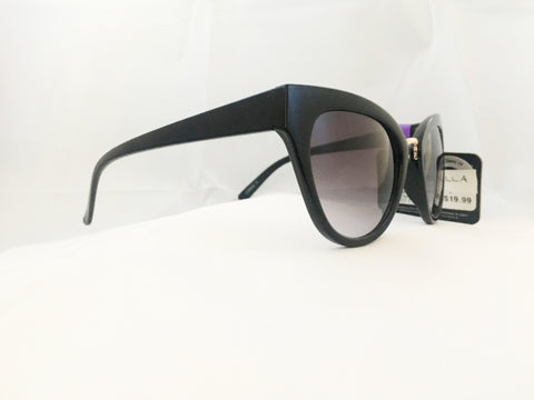 Cat Eye Sunglasses - Classic Black