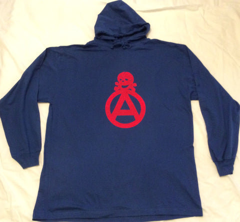 "Seditionaries Anarchist Skull Symbol Punk Hoodie Shirt XL 42"" / 44"""