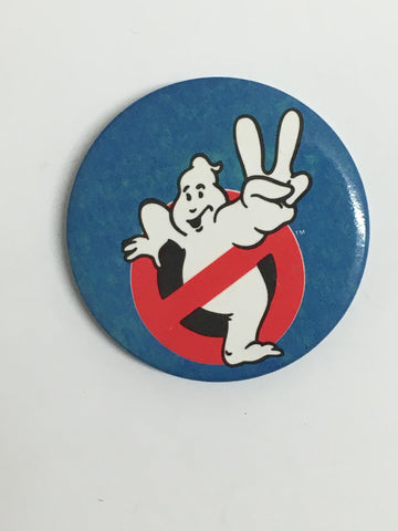 Retro Ghostbusters- Vintage 1980's large pin badge