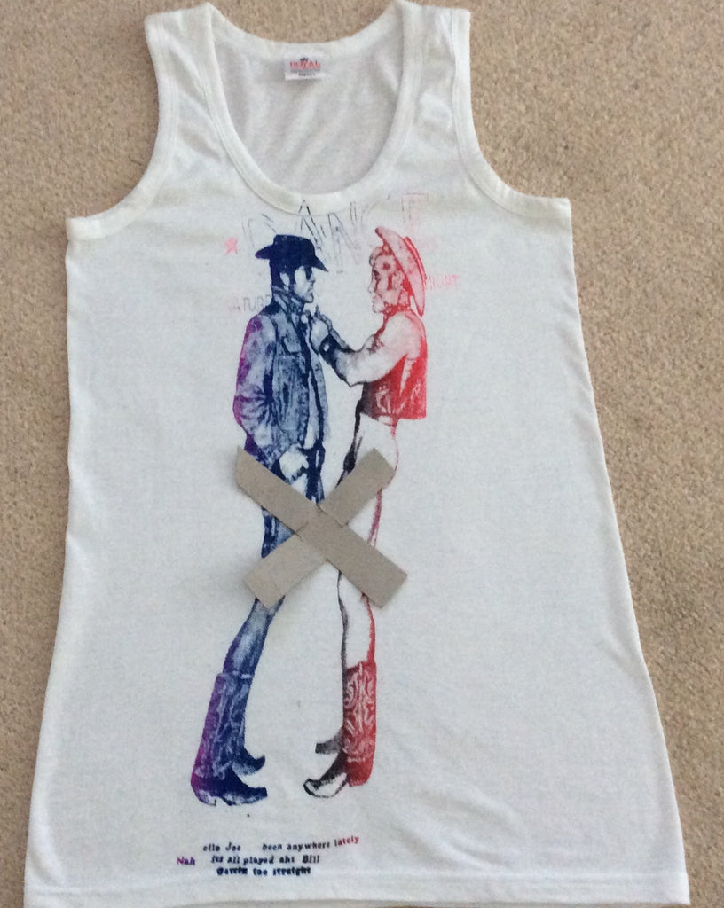 Seditionaries Two Cowboys Vest Punk Tank Small 36""