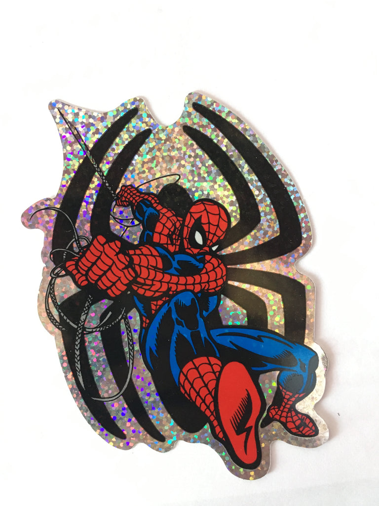 Spiderman Sticker 2002 Marvel - Glitter Holographic Large