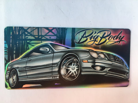 Big Body Benzo Sticker- Retro Metallic Stickers- Mr Cartoon Low Rider Car