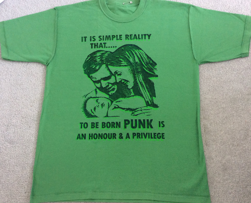 Sex Pistols BORN PUNK Green T-SHIRT Unisex Adult Med 38""